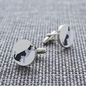 【送料無料】メンズアクセサリ― ボーダーコリーカフリンクスborder collie dog cufflinks