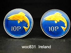 【送料無料】メンズアクセサリ― アイルランドパターンカフリンクスireland coin cufflinks choice of pattern
