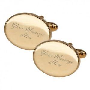 【送料無料】メンズアクセサリ― メッセージゴールドカフリンクスany message gold engraved cufflinks