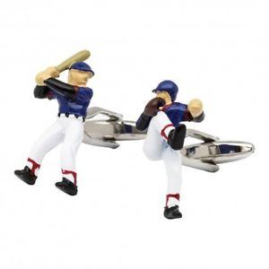 【送料無料】メンズアクセサリ― カフスボタンカフリンクスbaseball player cufflinks pitcher and batter baseball cufflinks