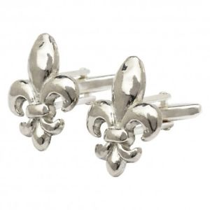 【送料無料】メンズアクセサリ― ピューターカフリンクスpewter fleur de lis cufflinks