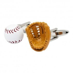 【送料無料】メンズアクセサリ― グローブボールカフスリンクbaseball glove and ball cufflinks