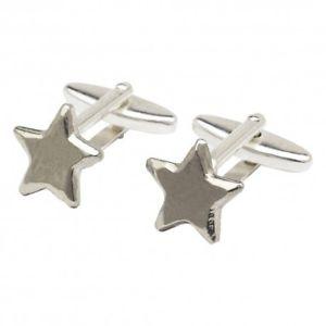 【送料無料】メンズアクセサリ― ピュータースターカフリンクスpewter star cufflinks