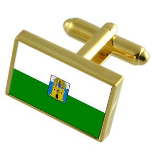 【送料無料】メンズアクセサリ― メデリンコロンビアゴールドフラッグカフスボタンボックスmedellin city colombia gold flag cufflinks engraved box