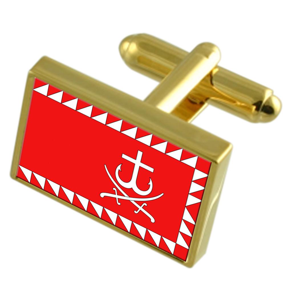 【送料無料】メンズアクセサリ― ウクライナゴールドフラッグカフスボタンボックスvinnytsia city ukraine gold flag cufflinks engraved box
