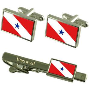 【送料無料】メンズアクセサリ― フラグカフスボタンタイクリップマッチングボックスpar flag cufflinks engraved tie clip matching box set