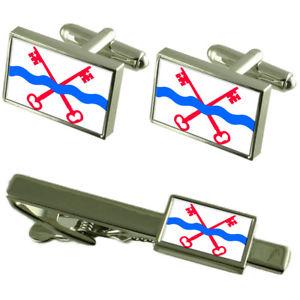 【送料無料】メンズアクセサリ― ライダードルプシティオランダカフスボタンタイクリップボックスセットleiderdorp city netherlands flag cufflinks tie clip box gift set