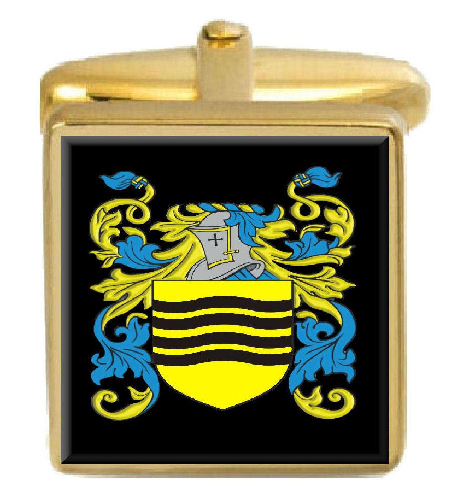 【送料無料】メンズアクセサリ― イギリスカフスボタンボックスファミリークレストコートillingsworth england family crest coat of arms gold cufflinks engraved box