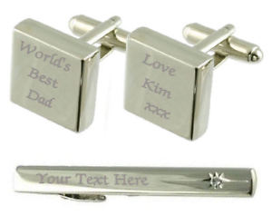 【送料無料】メンズアクセサリ― カフスボタンタイクリップボックスセットworlds best dad engraved cufflinks tie clip box set