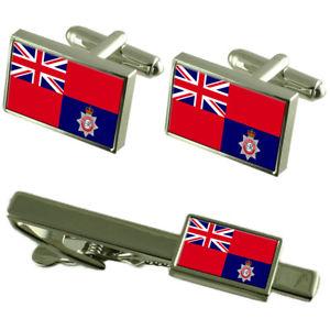 【送料無料】メンズアクセサリ― カフスボタンタイクリップボックスセットfire service military england flag cufflinks tie clip box gift set