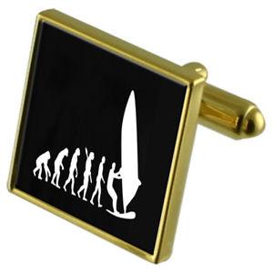 【送料無料】メンズアクセサリ― スポーツウィンドサーフィンカフスボタンクリスタルタイクリップセットsport windsurfing goldtone cufflinks crystal tie clip gift set