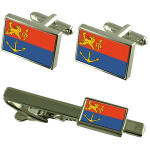【送料無料】メンズアクセサリ― オランダカフスボタンタイクリップボックスセットvenlo netherlands flag cufflinks tie clip box gift set