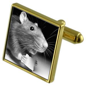 【送料無料】メンズアクセサリ― チーズカフスボタンクリスタルタイクリップセットマウスmouse with cheese goldtone cufflinks crystal tie clip gift set