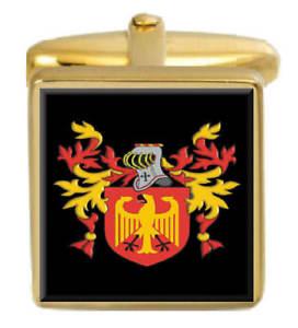【送料無料】メンズアクセサリ― アイルランドカフスボタンボックスコートmccurdy ireland family crest surname coat of arms gold cufflinks engraved box