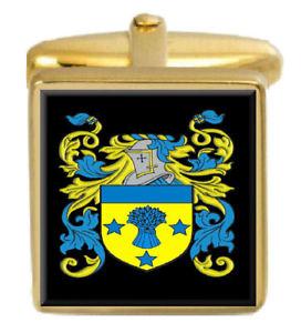 【送料無料】メンズアクセサリ― イングランドカフスボタンボックスコートluxon england family crest surname coat of arms gold cufflinks engraved box