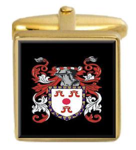 【送料無料】メンズアクセサリ― スコットランドカフスボタンボックスファミリークレストコートballantine scotland family crest coat of arms gold cufflinks engraved box