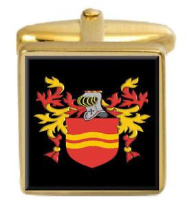 【送料無料】メンズアクセサリ― ウォルドロンアイルランドカフスボタンボックスコートwaldron ireland family crest surname coat of arms gold cufflinks engraved box