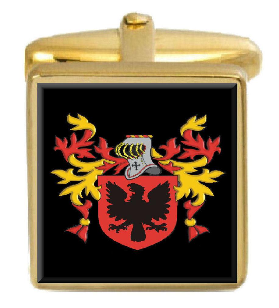 【送料無料】メンズアクセサリ― イーストウッドアイルランドカフスボタンボックスコートeastwood ireland family crest surname coat of arms gold cufflinks engraved box