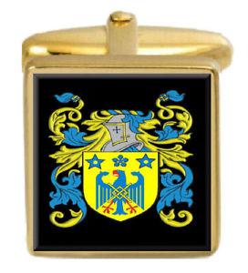 【送料無料】メンズアクセサリ― アイルランドカフスボタンボックスコートarderne ireland family crest surname coat of arms gold cufflinks engraved box