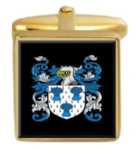 【送料無料】メンズアクセサリ― イギリスカフスボタンボックスコートmalkin england family crest surname coat of arms gold cufflinks engraved box