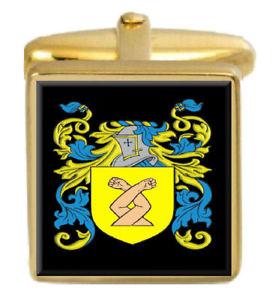 【送料無料】メンズアクセサリ― イングランドカフスボタンボックスコートfreer england family crest surname coat of arms gold cufflinks engraved box