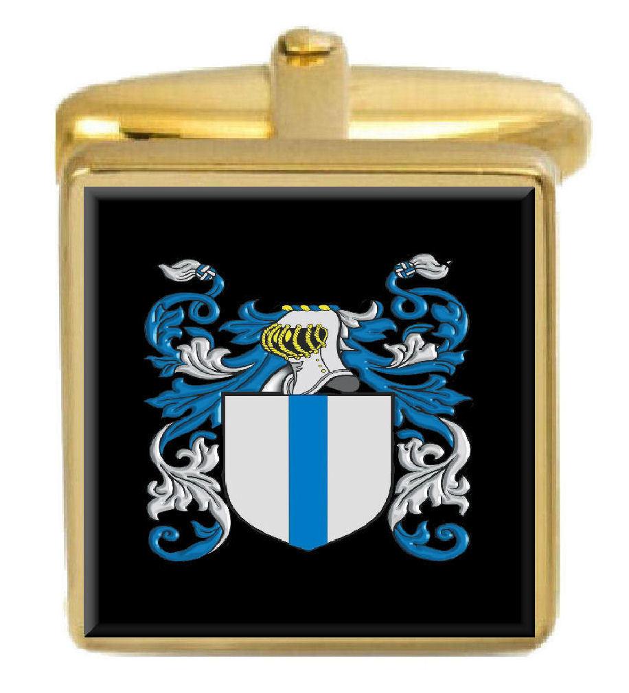 【送料無料】メンズアクセサリ― アイルランドカフスボタンボックスコートmaccurdy ireland family crest surname coat of arms gold cufflinks engraved box