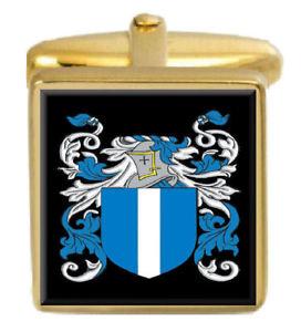 【送料無料】メンズアクセサリ― スコットランドカフスボタンボックスファミリークレストコートmccandless scotland family crest coat of arms gold cufflinks engraved box