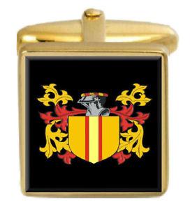 【送料無料】メンズアクセサリ― スコットランドカフスボタンボックスファミリークレストコートmccutcheon scotland family crest coat of arms gold cufflinks engraved box