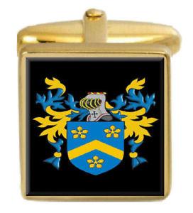 【送料無料】メンズアクセサリ― スコットランドカフスボタンボックスコートwyness scotland family crest surname coat of arms gold cufflinks engraved box