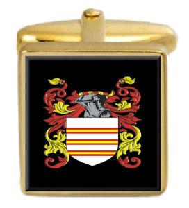 【送料無料】メンズアクセサリ― スコットランドカフスボタンボックスコートhendry scotland family crest surname coat of arms gold cufflinks engraved box