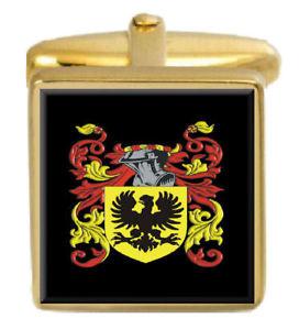 【送料無料】メンズアクセサリ― スコットランドカフスボタンボックスコートmathews scotland family crest surname coat of arms gold cufflinks engraved box
