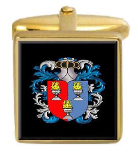 【送料無料】メンズアクセサリ― ボウルズイングランドカフスボタンボックスコートbowles england family crest surname coat of arms gold cufflinks engraved box
