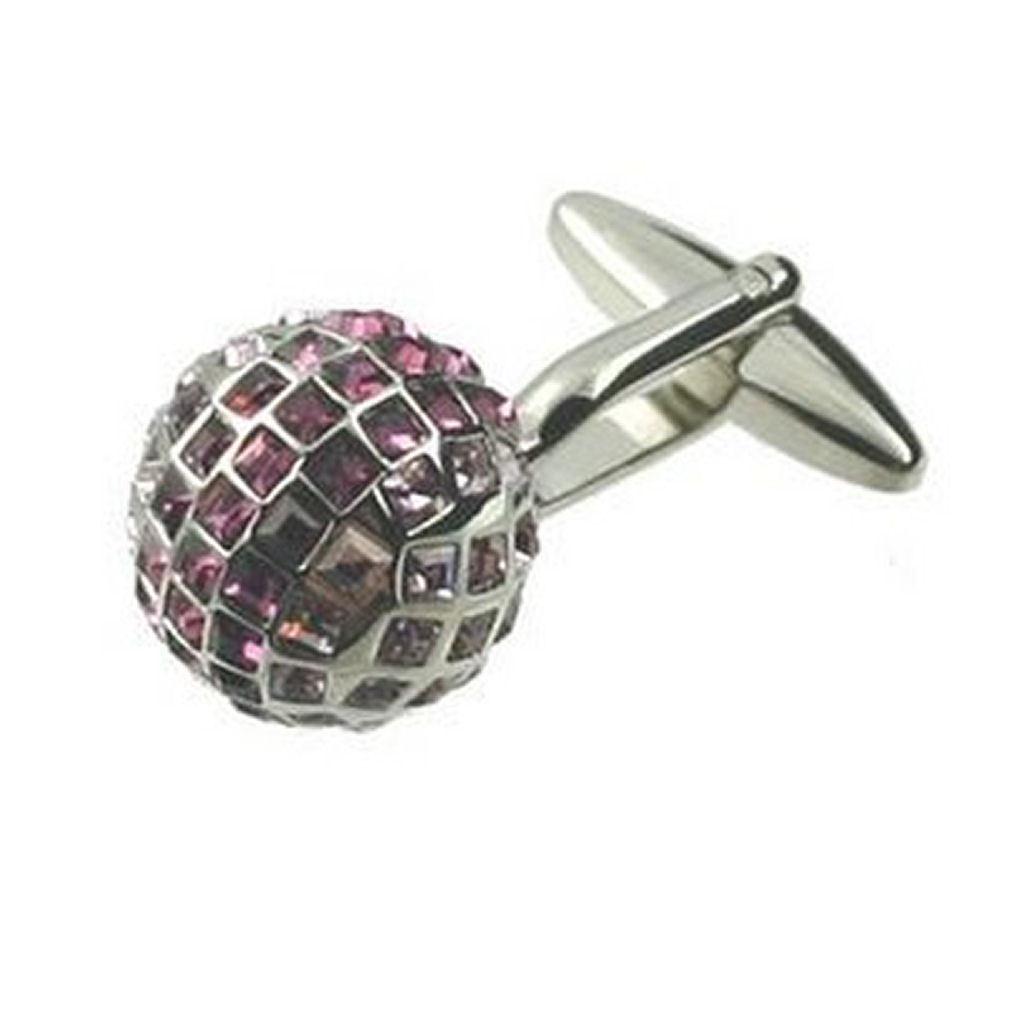 【送料無料】メンズアクセサリ― ピンククリスタルボックスカフリンクカフリンクスcuff links cufflinks for men draco pink bling crystal engraved personalised box