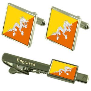 【送料無料】メンズアクセサリ― フラグカフスボタンタイクリップマッチングボックスbhutn flag cufflinks engraved tie clip matching box set