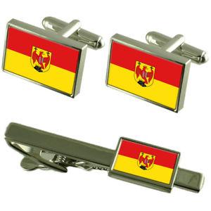 【送料無料】メンズアクセサリ― ブルゲンラントカフスボタンタイクリップマッチングボックスセットburgenland flag cufflinks tie clip matching box gift set