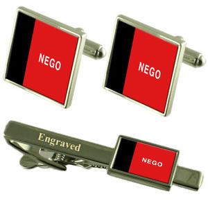 【送料無料】メンズアクセサリ― フラグカフスボタンタイクリップマッチングボックスparaba flag cufflinks engraved tie clip matching box set