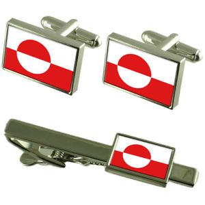 【送料無料】メンズアクセサリ― グリーンランドカフスボタンタイクリップマッチングボックスセットgreenland flag cufflinks tie clip matching box gift set
