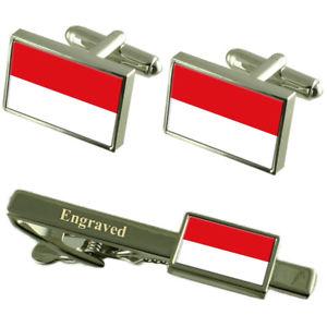 【送料無料】メンズアクセサリ― ウィーンカフスボタンタイクリップマッチングボックスvienna flag cufflinks engraved tie clip matching box set