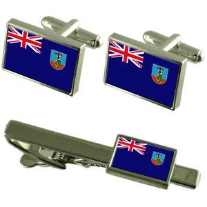 【送料無料】メンズアクセサリ― フラグカフスボタンタイクリップマッチングボックスセットmontserrat flag cufflinks tie clip matching box gift set