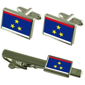 【送料無料】メンズアクセサリ― フラグカフスボタンタイクリップマッチングボックスセットvojvodina flag cufflinks tie clip matching box gift set