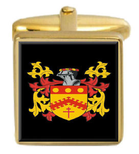 【送料無料】メンズアクセサリ― アイルランドカフスボタンボックスセットファミリークレストコートhoarty ireland family crest coat of arms heraldry cufflinks box set engraved