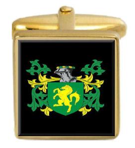 【送料無料】メンズアクセサリ― アイルランドカフスボタンボックスセットファミリークレストコートbond ireland family crest coat of arms heraldry cufflinks box set engraved