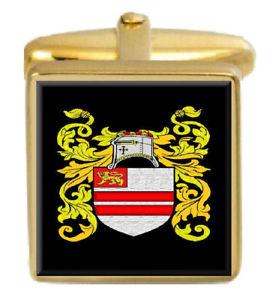 【送料無料】メンズアクセサリ― イングランドカフスボタンボックスセットファミリークレストコートlancaster england family crest coat of arms heraldry cufflinks box set engraved