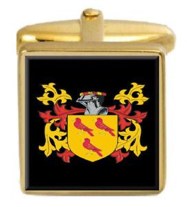 【送料無料】メンズアクセサリ― イングランドカフスボタンボックスセットファミリークレストコートgoldstraw england family crest coat of arms heraldry cufflinks box set engraved