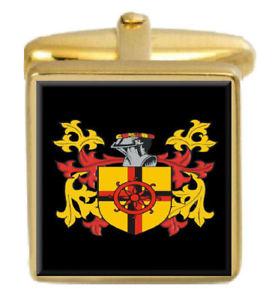 【送料無料】メンズアクセサリ― アイルランドカフスボタンボックスセットファミリークレストコートhern ireland family crest coat of arms heraldry cufflinks box set engraved
