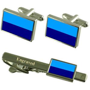 【送料無料】メンズアクセサリ― デュランエクアドルカフスボタンタイクリップセットduran city ecuador flag cufflinks engraved tie clip set