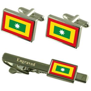 【送料無料】メンズアクセサリ― ボゴタコロンビアカフスボタンタイクリップセットbogota city colombia flag cufflinks engraved tie clip set