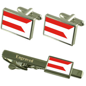 【送料無料】メンズアクセサリ― シティスロバキアカフスボタンタイクリップセットpresov city slovakia flag cufflinks engraved tie clip set