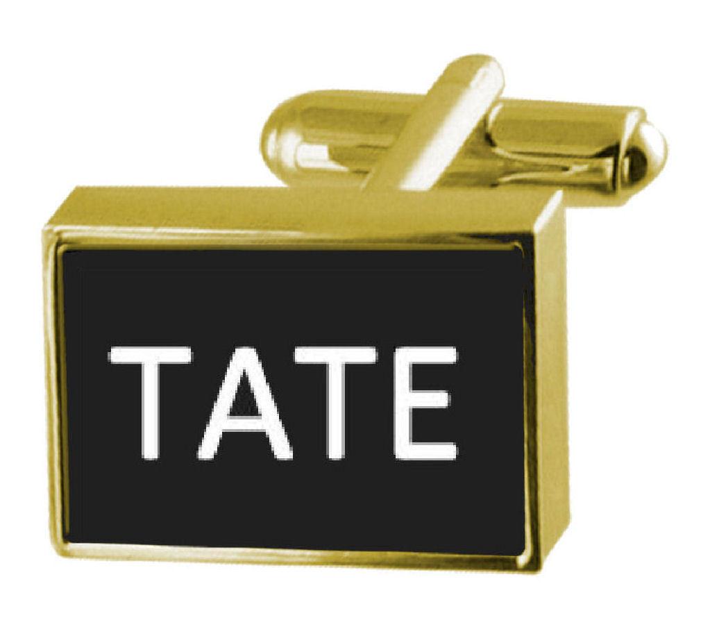 【送料無料】メンズアクセサリ― カフリンクスマネークリップテートengraved money clip with cufflinks name tate