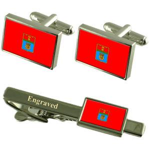 【送料無料】メンズアクセサリ― ボルゴグラードロシアカフスボタンタイクリップセットvolgograd city russia flag cufflinks engraved tie clip set